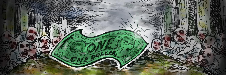 El dólar descansa en la reposera